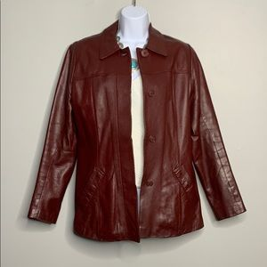 Max Pelle Red Italian Leather Jacket 8